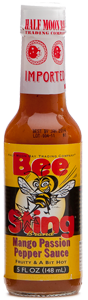 BeeSting Brand Mango Passion Pepper Sauce